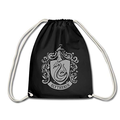 Harry Potter Slytherin Banner Wappen Turnbeutel, Schwarz