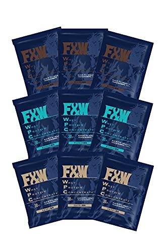 F&W(エフアンドダブリュー) ホエイプロテイン WPC お試しセット 約30g×9個入 (カフェオレ/ミルクティー/チョコミント)