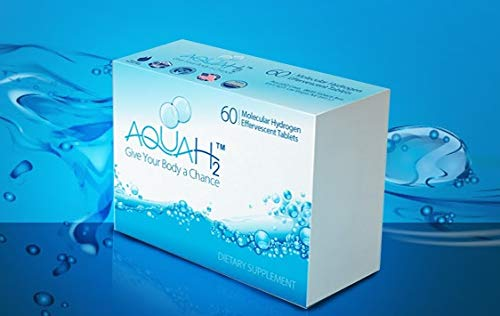 Aquah2 Molecular Hydrogen Tablets | 60 Hydrogen Water Tablets by Aquah2