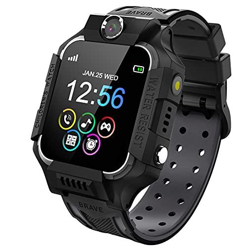 Smartwatch Telefono per Bambini, Orologio Digitale con Conversazione Bidirezionale Lettore MP3 Gioco Sveglia Calcolatrice Registratore Timer Watch per Ragazzo Ragazza Regalo Student