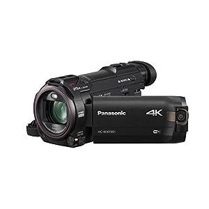 "Panasonic 4K Cinema-Like Video Camera Camcorder HC-WXF991K, 20X Leica DICOMAR Lens, 1/2.3"" BSI Sensor, 5-Axis Hybrid O.I.S, HDR Mode, EVF, WiFi, Multi Scene Video Recording (Black)"