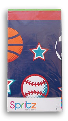 Spritz Classic Party Table Cover - Sports Theme - 54 x 84