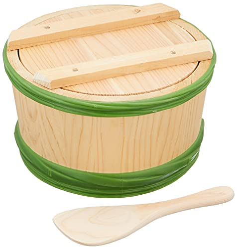 ヤマコー 手作り味噌用熟成桶 約1.5kg用 89978 味噌桶/外寸:約Φ20×H12.5cm、内寸:約Φ17×9.5cm、しゃもじ/約L16cm