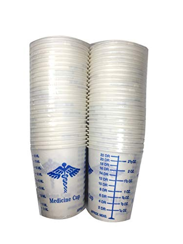 50 Graduated Medicine Solo Paper Cups 3 oz for Epoxy Resin, Polyester Resin, Paints