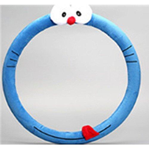 38mm Universal Car Styling Bow Car Doraemon Steering Wheel Cover cute Cartoon Interior Accessories Set Women/man GIRLS car covers