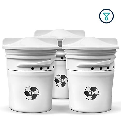 TAPP 2 - Juego de 3 cartuchos biodegradables (elimina cloro, pesticidas, plomo, microplásticos, etc.)