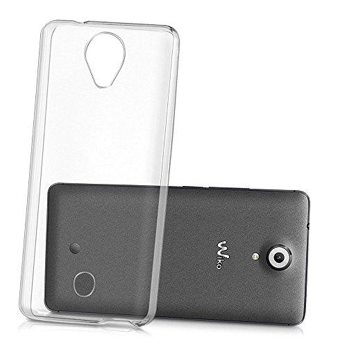 REY Funda Carcasa Gel Transparente para WIKO U Feel/UFEEL, Ultra Fina 0,33mm, Silicona TPU de Alta Resistencia y Flexibilidad