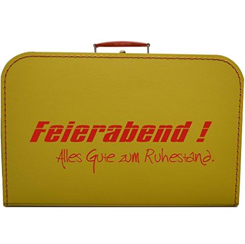Koffer zum Ruhestand, Rente, Pension - Größe und Farbe wählbar (gelb, 45 cm)