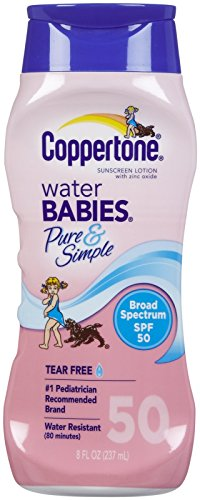 WaterBABIES Pure + Simple Sunscreen Lotion - SPF 50-8 oz