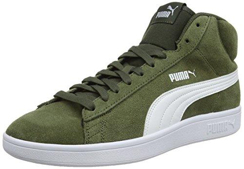 Puma Smash V2 Mid SD, Sneaker a Collo Alto Unisex – Adulto, Verde (Forest Night White 03), 39 EU