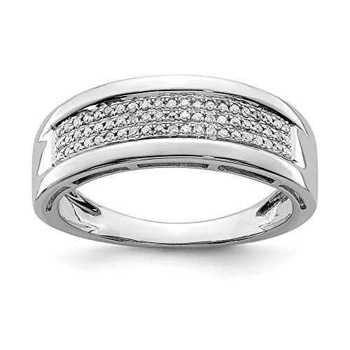 Ryan Jonathan Fine Jewelry Sterling Silver Diamond Women's Band Ring