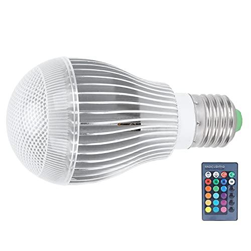Bombilla de luz que cambia de color RGB, luz teledirigida inteligente, decoración del hogar, iluminación decorativa para barra para dormitorio