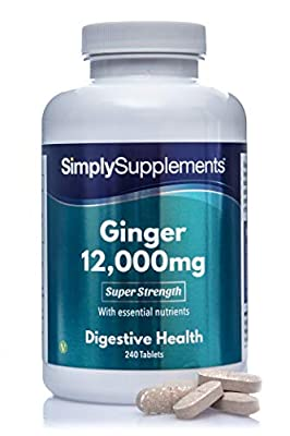 Ginger Tablets | Incredible 12000mg in Every Dose | Vegan & Vegetarian Friendly | Popular Supplement for Healthy Digestion & Travel Sickness | 240 Tablets = Up to 8 Month Supply | Manufactured in the UK