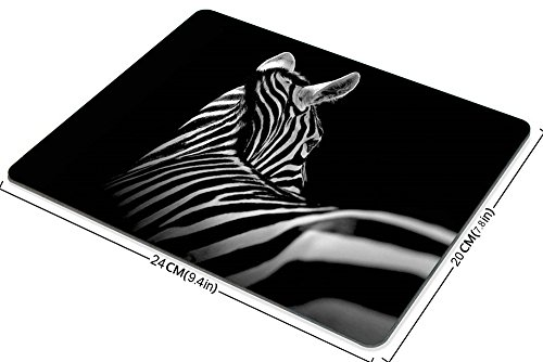 Zebra Mouse Pad by Smooffly, Black & White Zebra Mouse Pad Rectangle Non-Slip Rubber Mousepad Gaming Mouse Pad Photo #2