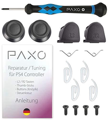 PS4 Controller Reparatur Set/Kit für L2 & R2 Tasten und Thumb Sticks, incl. ausführlicher Anleitung