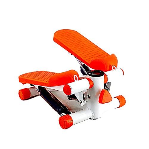 Máquinas de step, Paso De Acondicionamiento Físico, Paso A Paso Superior Con Cuerdas Eléctricas, Ejercicio Equipo De Gimnasio Para Principiantes De Gimnasia Twister Para Principiantes(Color:naranja)