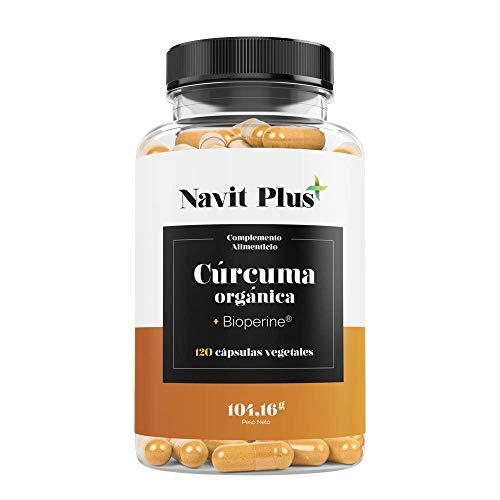 Cúrcuma Orgánica 1490mg con BioPerine. Suplemento Nº 1 en Cúrcuma. Antioxidante natural. 120 cápsulas vegetales con ingredientes de máxima calidad. Cúrcuma ecológica 100% natural. ISO 9001.