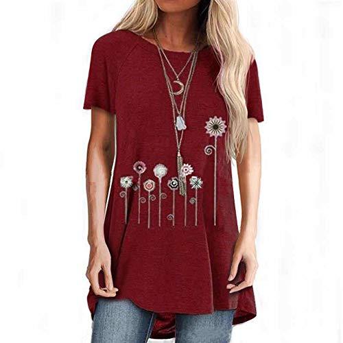 Neues KurzäRmeliges Lockeres Lockeres Rundhals-T-Shirt FüR Damen Mit Sommermotiven