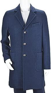 CIRCOLO チルコロ CN1272 9480 CAPPOTTO LANA BOUCLE コート/メンズ/ブークレ/BLUE [並行輸入品]