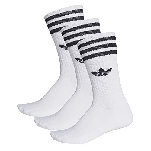 Adidas Solid Crew Socks Socken 3er Pack (43-46, white/black)