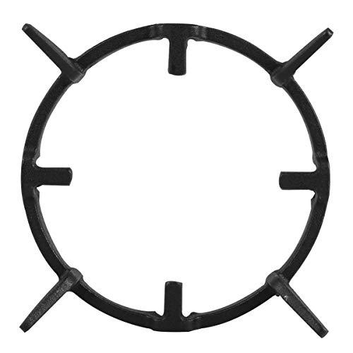 Cabilock Estufa de Hierro Fundido Negro Antideslizante Salvamanteles para Cocina Anillo de Soporte Wok Estufa Soporte para Sartén Soporte Estante de La Estufa Soporte de Olla de Leche para