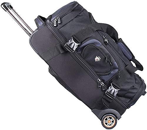 Dljyy Be van toepassing Trolley Bag Rugzak Handtas bergbeklimmen tas Bagage Trolley Case Waterdichte Reistas Stille Rubber Wiel Grote Capaciteit (Kleur: Zwart-B# Maat : 88L)