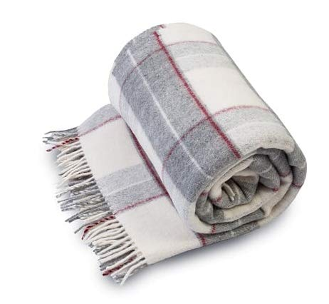 Merino Schafwolldecke/Kuscheldecke, Decke 100% Merino Wolle - Lammwolle Schafwolle Merinowolle Wolle Decke 160 x 200 cm