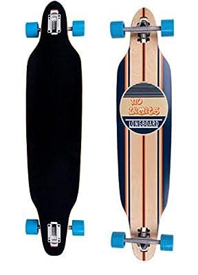 Longboard Skateboard Skaten Cruisen Komplettboard blau 107 cm ABEC-7