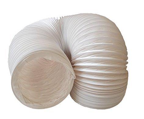 Tubo di scarico aria daniplus, flessibile, in PVC, diametro 150 mm, lunghezza 4m, perfetto per impianti di climatizzazione, asciugatrici e cappe aspiranti
