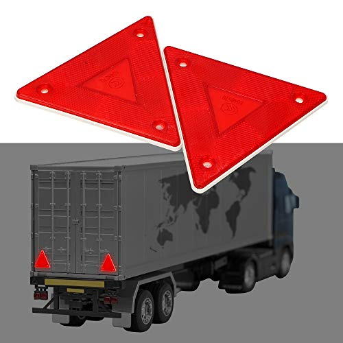 Cartel reflectante rojo de seguridad triángulo reflector para camiones (2 unidades)