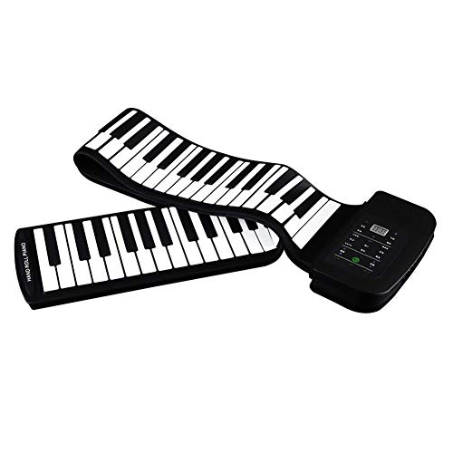 Ning Night Klassische 88-Key Hand gerollt Klavier Kinder Electronic Piano Portable Keyboard Silikon Material Weich Klavier Anfänger Spieluhr Klavier Matte mit Batterie Sustain Pedal