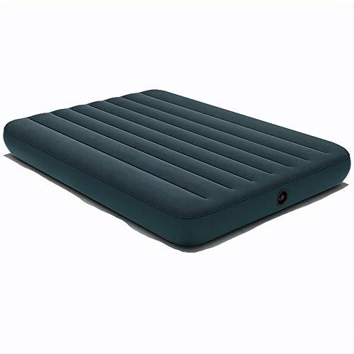 HHHAAA Air Mattress Bed, Quick Inflation Air Mattress with Flocked Surface, Waterproof Air Mattress Single/Double, Green,191 * 76 * 25cm