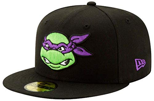 New Era Teenage Mutant Ninja Turtles Donatello Black Purple Cap 59fifty 5950 Fitted Limited Custom Edition