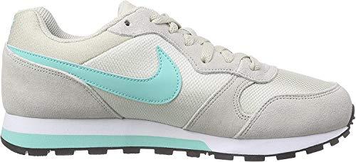 Nike Damen MD Runner 2 Laufschuhe, Beige (Helles Braun-Beige/Hyper Türkis-Racer Blue/Weiß 034), 40 EU
