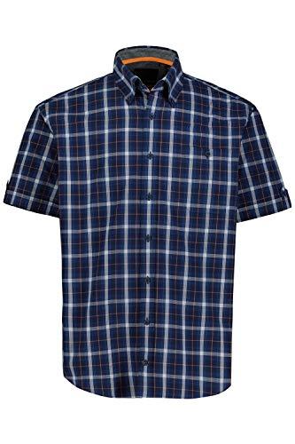 JP 1880 Homme Grandes Tailles Chemise à Carreaux Indigo L 726829 72-L