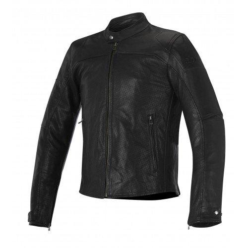 Alpinestars Men's Brera Airflow Leather Motorcycle Jacket, Black, 56