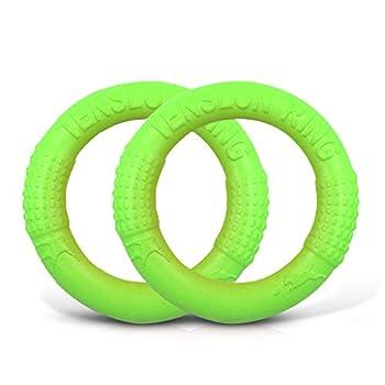 PETCUTE Jouet Frisbee pour Chiens Flotant Disque pour Chien Frisbee Indestructible en Caoutchouc 2 pièces