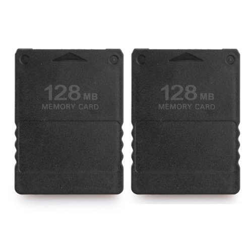 Dcolor 2 Tarjeta de Memoria 128MB para Playstation PS2 Compatible Negro Nuevo