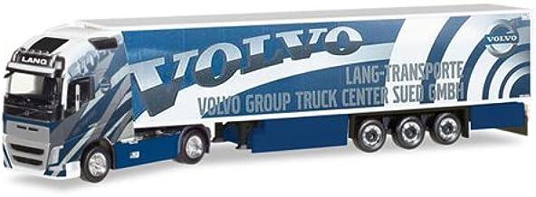 Herpa FH 16 GL. XL Kühlkoffer-Sattelzug Lang Transporte/Volvo Truck Center Sued GmbH (308014): Amazon.es: Juguetes y juegos