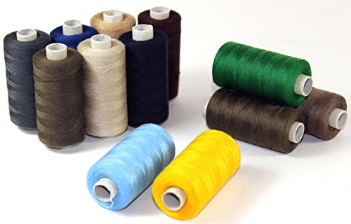 Naaigaren kleurrijk 500m per rol garen syngarn 100% polyester allesnaaier garen 028 12 Stück multicolor