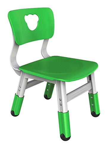 Bieco 04000037 - Kinderstuhl grün, höhenverstellbar, ca. 35 x 30 x 50 cm