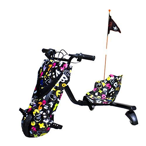 Gran Scooter Patinete con Silla Boogie Drift 36D (250W, Batería Litio, 3 Velocidades, Vel. Máx 15km, Luz Delantera, Pantalla LCD) – Party