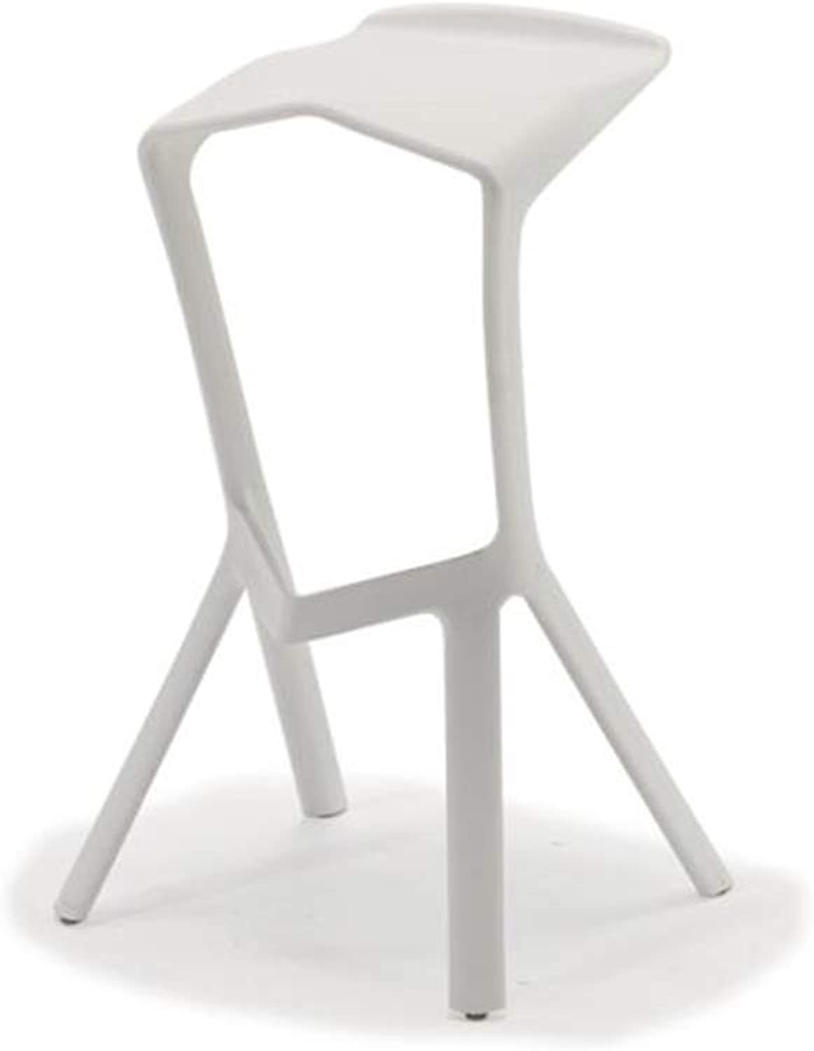 QIDI Bar Stool Counter Chairs Anti-Slip for Home Kitchen Cafe Bar 6 colors (color   White)