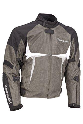 Kawasaki SPORTS TEXTILJACKE Motorradjacke schwarz grau (L)