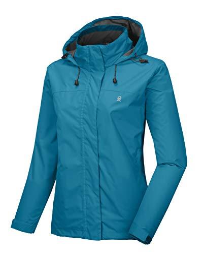 Little Donkey Andy Women's Waterproof Mountain Jacket, Rain Jacket Pagoda Blue S