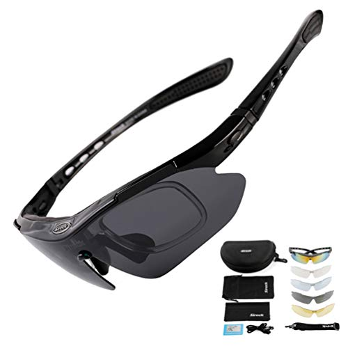 Sireck Sports Sunglasses + 5 Lenses - Polarized Sunglasses - Outdoor...