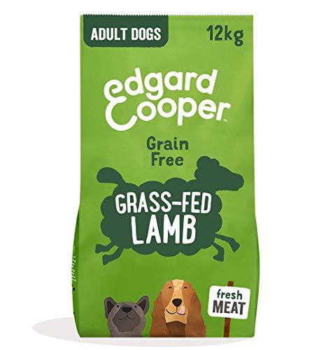 Edgard & Cooper, Croquettes Chien sans Cereales Hypoallergénique, Nourriture Chien Adulte Naturelle Agneau Frais nourri à l'herbe, Alimentation équilibrée complète Saine de qualité (12KG)