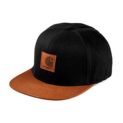 Carhartt I025735 Logo cap bi-Colored Cappello Unisex Black/Hamilton Brown