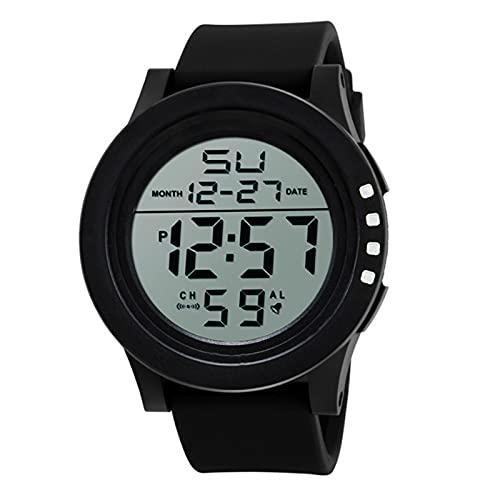 LJSF Relojes de Ocio de la Moda Deportivos para Hombre, Resistente al Agua Digital Militares Relojes con Retroiluminación Cronómetro Alarma Reloj de 12/24 Horas,Set2