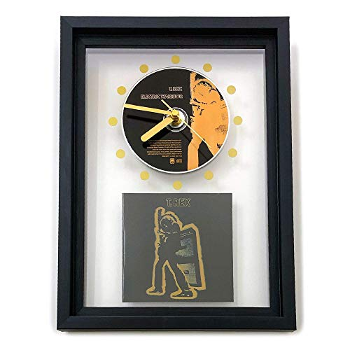 T. REX - Electric Warrior: GERAHMTE CD-WANDUHR/Exklusives Design